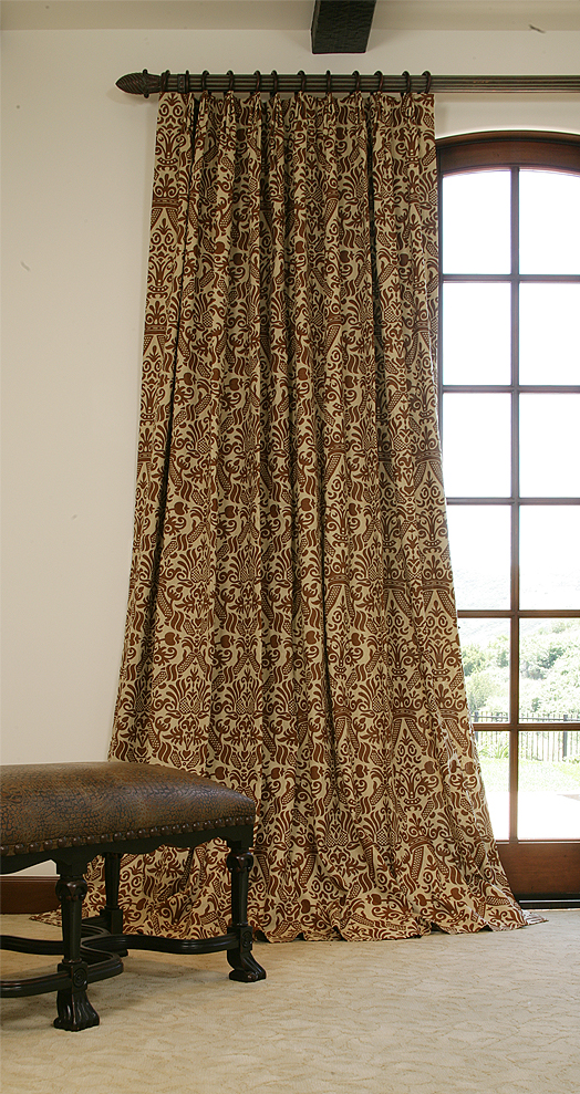 linen drapes puddle