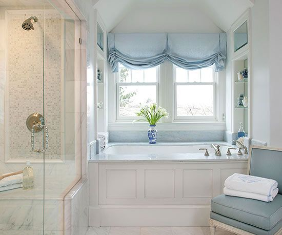 Bathroom Window Treatments window treatments for bathrooms - drapestyle