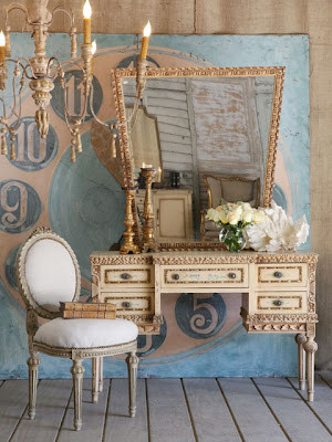 Blue Shabby Chic
