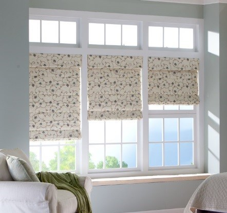 Cascade flowered 3 roman shades