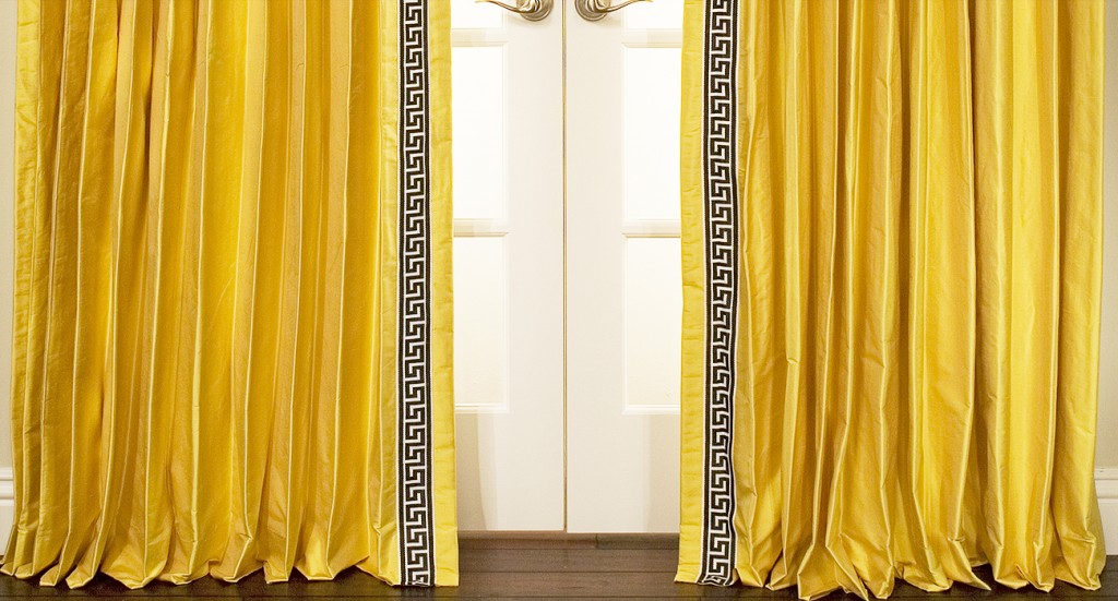 Greek Key Custom Drapes