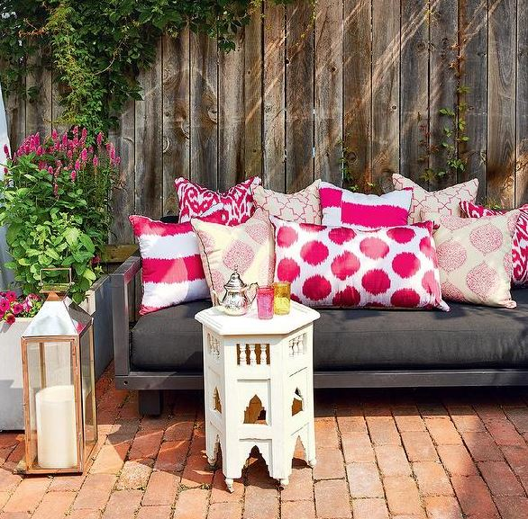 Outdoor Deck Pink Pillows