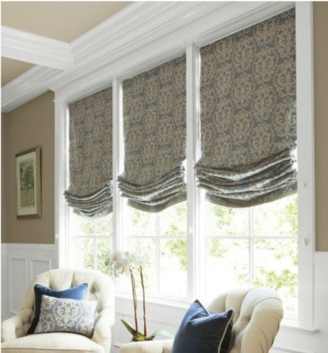 Relaxed Green 3 Roman Shades