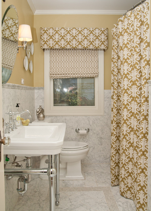 For A Truly Custom Look Tie In Your Window Treatments With Shower Curtain Dtyle Can Make Roman Shades Any