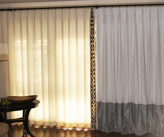 Blackout Lined Custom Curtains and Drapes