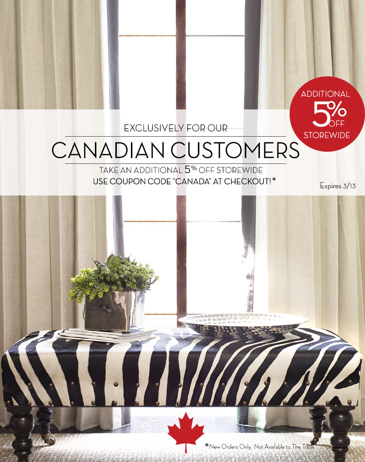 Canadian Customers can Save an Extra 5% Off Custom Drapes and Window Treatments at DrapeStyle