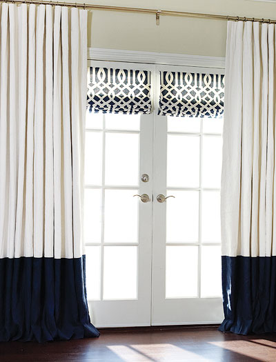 custom roman shades and drapes