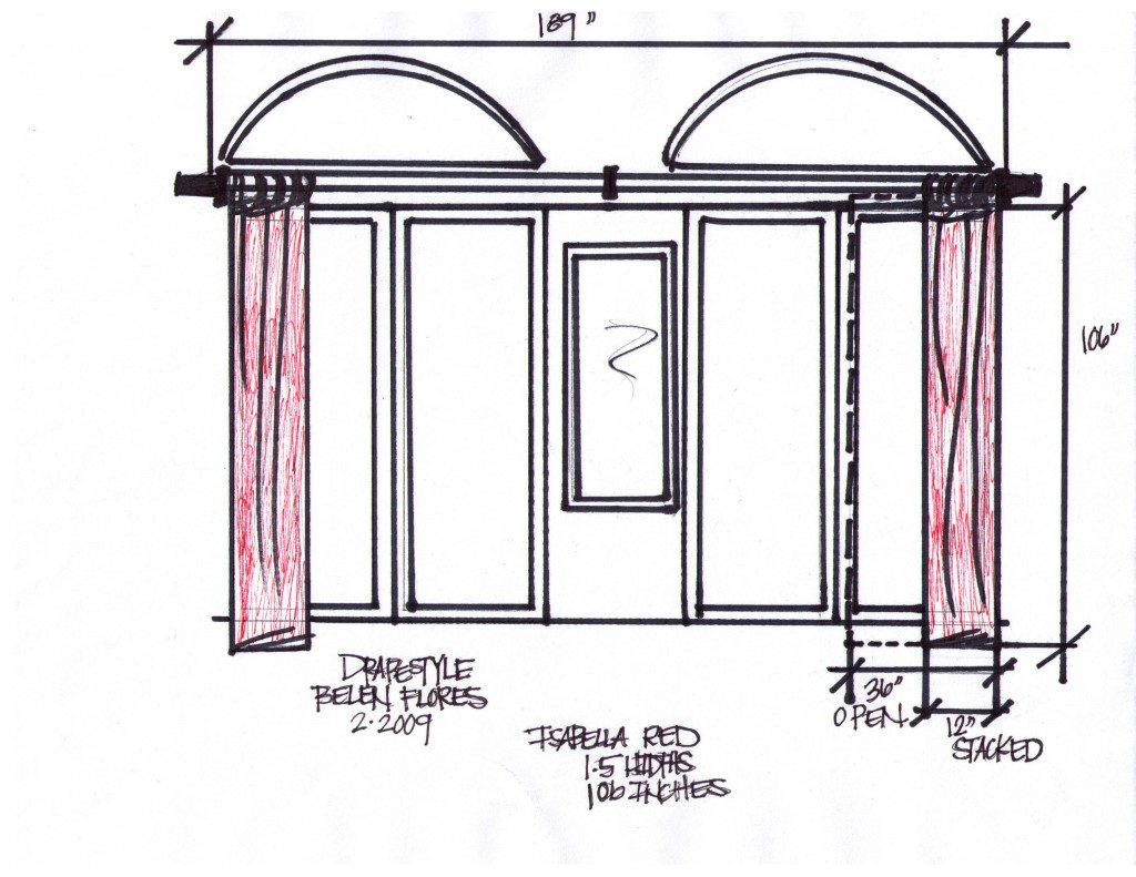 cusotm drapes for long windows