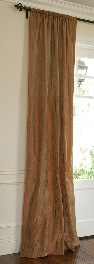 rod-pocket silk drapes