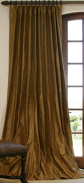 elegant silk drapes