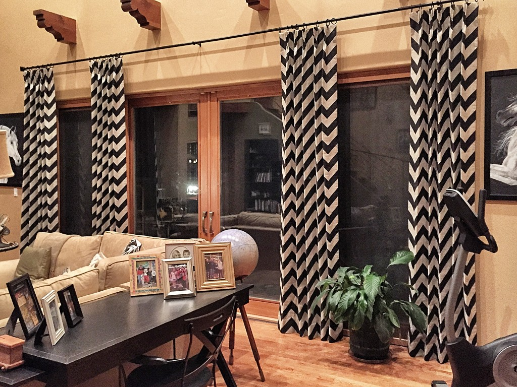 Mojave Stone Custom Cotton Drapery by DrapeStyle