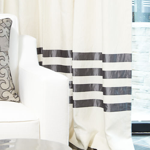 The Hotel Drape in Linen with Silk Banding