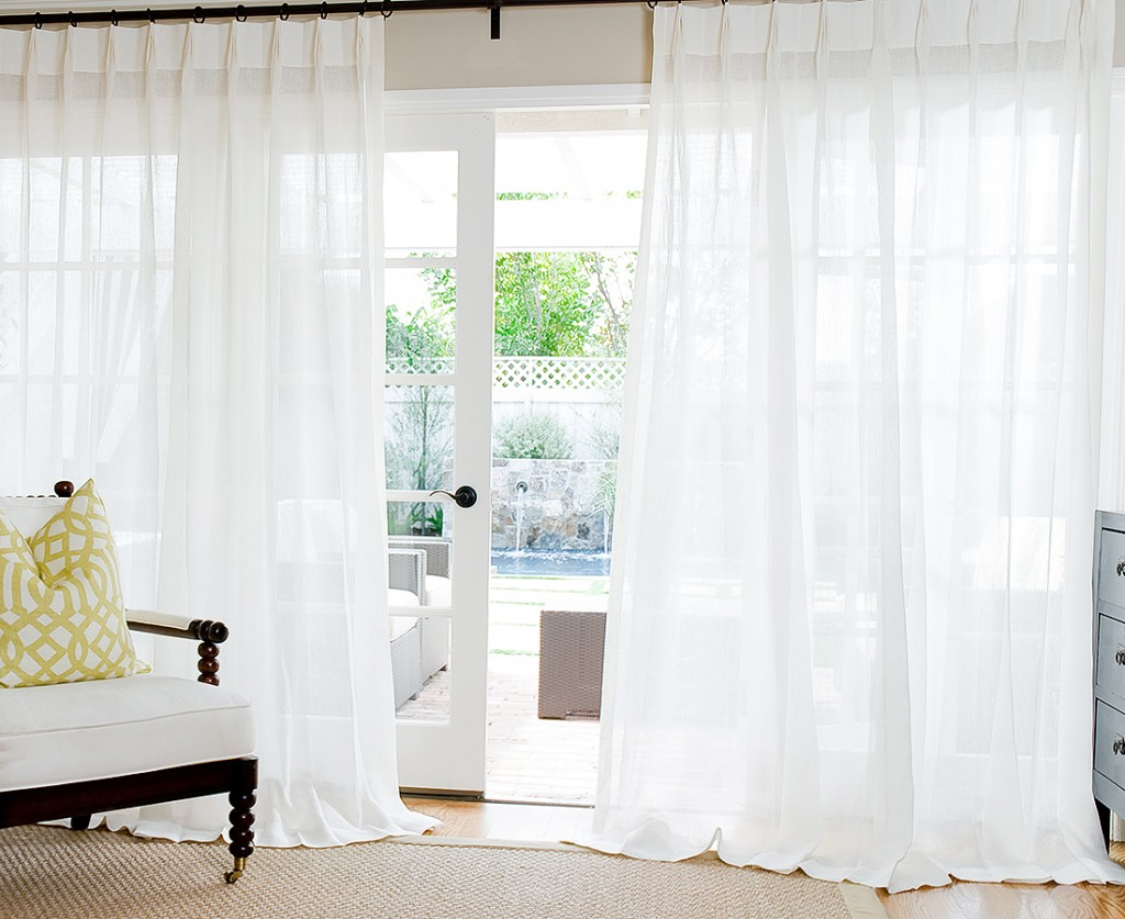 french pleat linen drapes