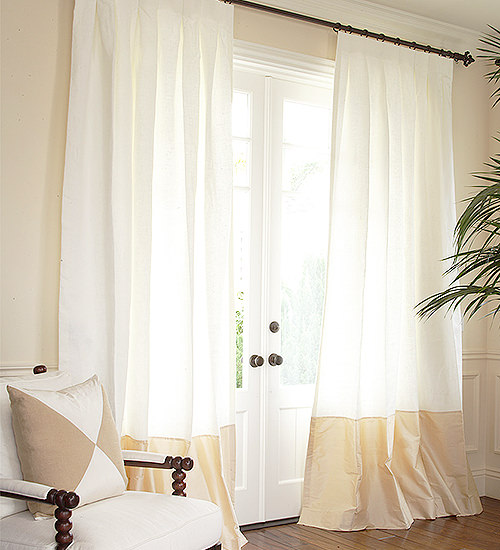 Our popular silk and linen custom drapes from DrapeStyle