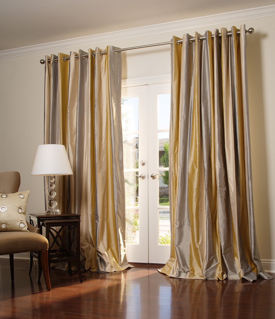 Custom grommet drapes drapestyle for Unique drapes and curtains