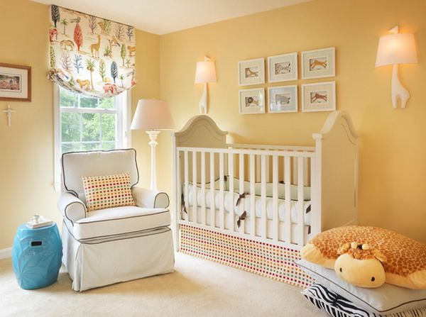 yellow-nursery-room-short-curtain-room